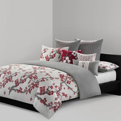 Cherry Blossom Cotton Lumbar Pillow