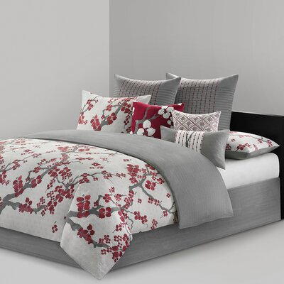 Cherry Blossom 4 Piece Comforter Set Size: King