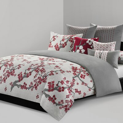 Cherry Blossom Duvet Size: Full / Queen