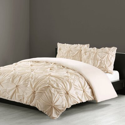 Jolee 3 Piece Comforter Set Size: Queen, Color: Ivory