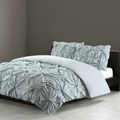 Jolee 3 Piece Comforter Set Color: Blue, Size: King