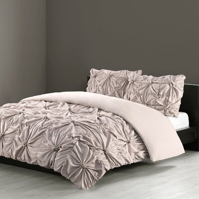 Jolee 3 Piece Comforter Set Size: Queen, Color: Khaki