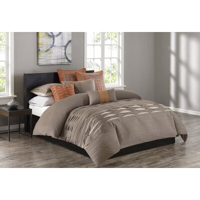 Nara 3 Piece Duvet Cover Set Size: Queen