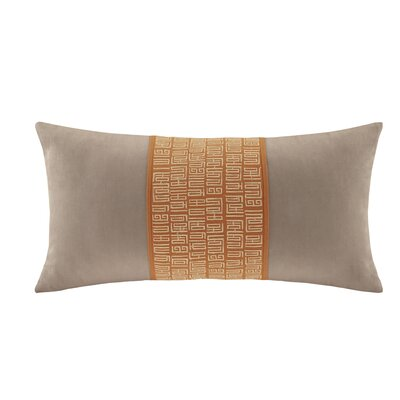 Nara Cotton Lumbar Pillow Color: Oatmeal/Orange