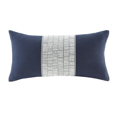 Nara Cotton Lumbar Pillow Color: Navy/Gray