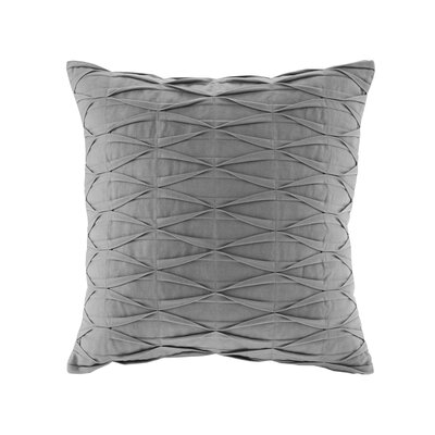 Nara Cotton Throw Pillow Color: Gray
