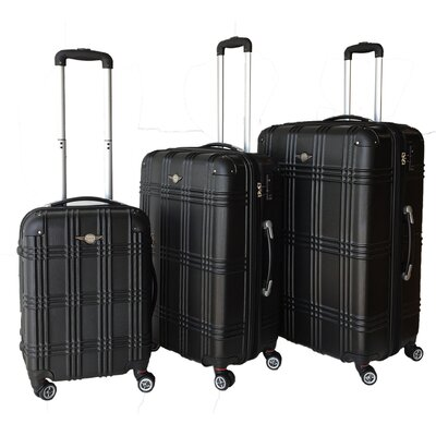 RivoLite Capri 3 Piece Luggage Set - Color: Black
