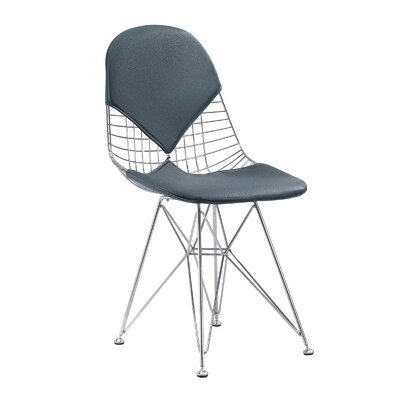 M245 Side Chair Color: Navy, Finish: Chrome