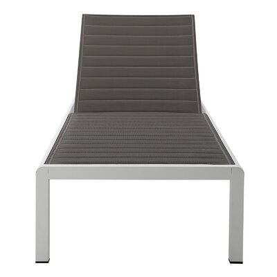 Chaise Lounge Fabric/Finish: Grey/White