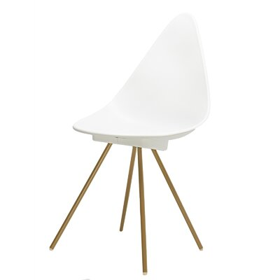 Side Chair Finish: White/Gold