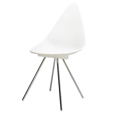 Side Chair Finish: White/Silver