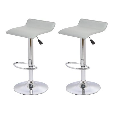 Adjustable Height Bar Stool Upholstery: Gray