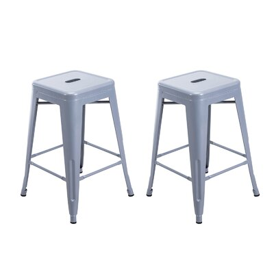 Bar Stool Upholstery: Silver