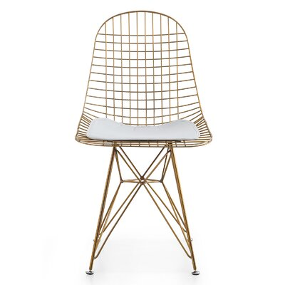 M37 Wire Side Chair Upholstery: White