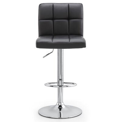 M36 Adjustable Height Bar Stool Upholstery: Black