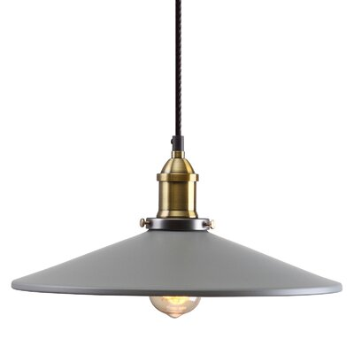 M39 1-Light Mini Pendant Shade Color: Gray, Size: 5.9 H x 14.2 W x 14.2 D