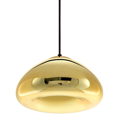 1-Light Mini Pendant Size: 6.3 H x 11.8 W x 11.8 D