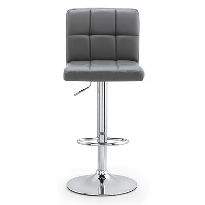 M36 Adjustable Height Bar Stool Upholstery: Gray