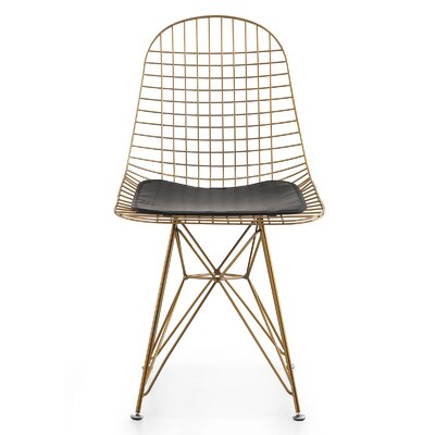 M37 Wire Side Chair Upholstery: Black