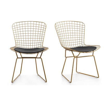 M38 Wire Side Chair Color: Black