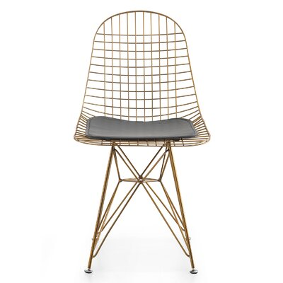 M37 Wire Side Chair Upholstery: Gray