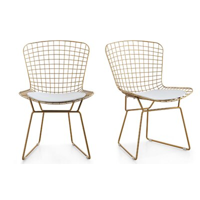 M38 Wire Side Chair Color: White