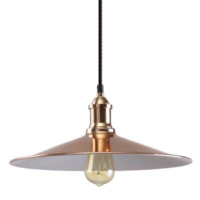 M39 1-Light Mini Pendant Shade Color: Copper, Size: 5.9 H x 14.2 W x 14.2 D