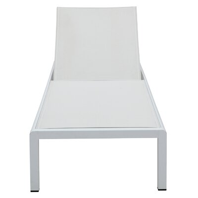 Chaise Lounge Fabric/Finish: White/White