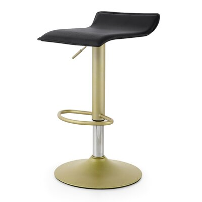 M502 Adjustable Height Swivel Bar Stool Color: Black/Gold