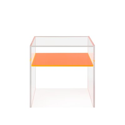 End Table Table Top Color: Orange