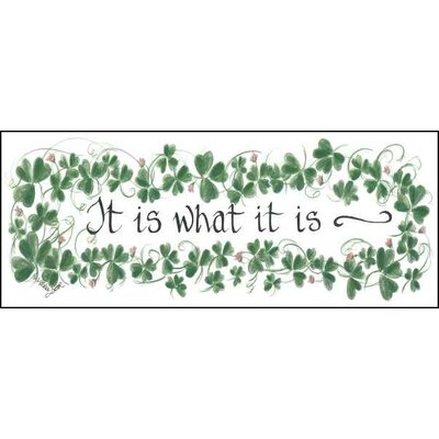 Life Lines It Is What It Is Textual Art Plaque