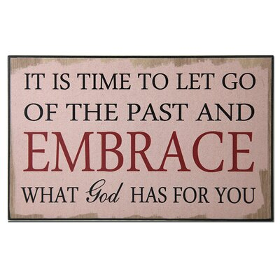 Let Go Of The Past Textual Art Plaque
