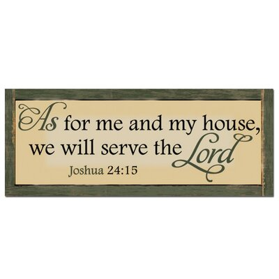 Serve The Lord Textual Art Plaque
