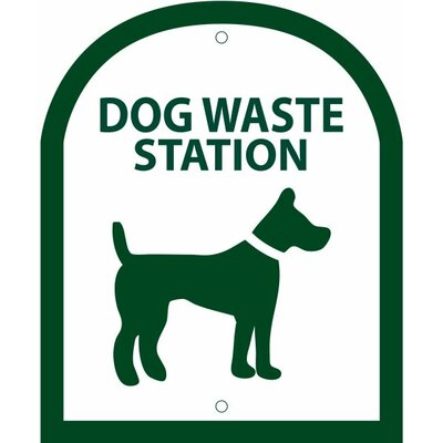 Arch Symbol Dog Waste Station Sign Color: Forest Green