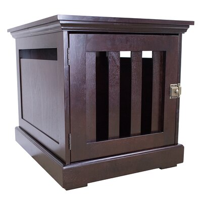 Oscar Wooden Pet Crate Size: 35.5 H x 25 W x 35.5 L, Color: Espresso