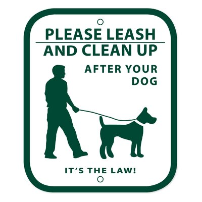 No Leash and Curb Dog Sign