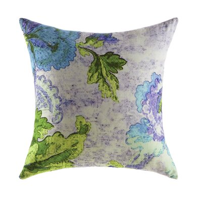 Ardienne Floral Print Cotton Throw Pillow