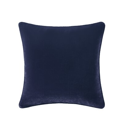 Winward Velvet Throw Pillow Color: Blue