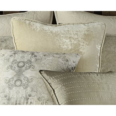 Winward Velvet Throw Pillow Color: Tan