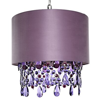 Poetic Wanderlust 1-Light Mini Pendant Shade Color: Purple