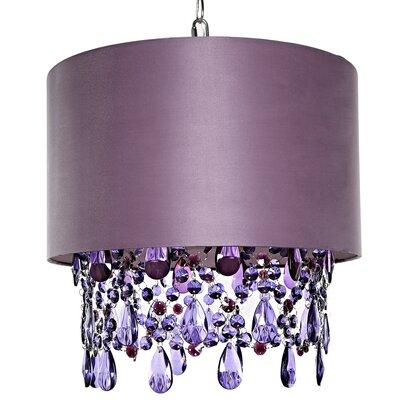 Poetic Wanderlust 1-Light Mini Pendant Shade Color: Purple