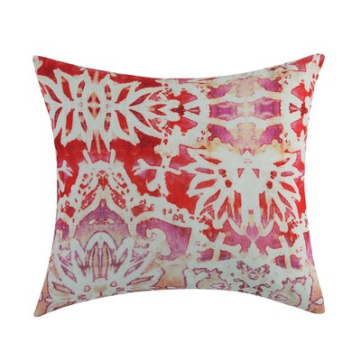 Alouette Printed Velvet Throw Pillow