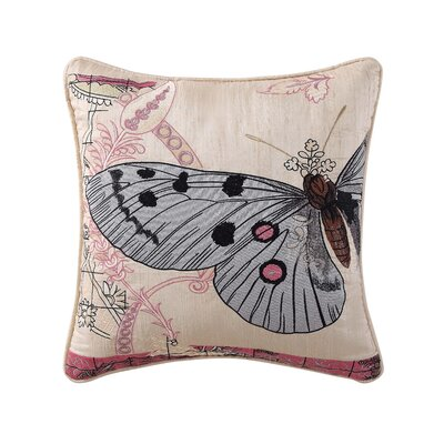 Franny Embroidered 100% Cotton Throw Pillow