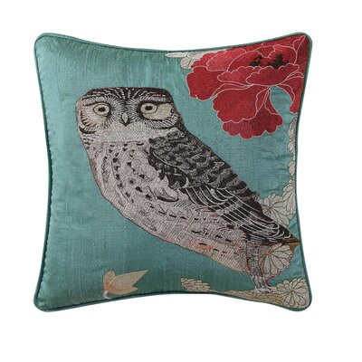 Emmeline Embroidered 100% Cotton Throw Pillow