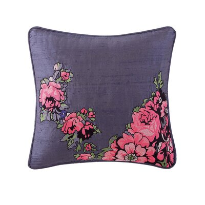 Nell Embroidered 100% Cotton Throw Pillow