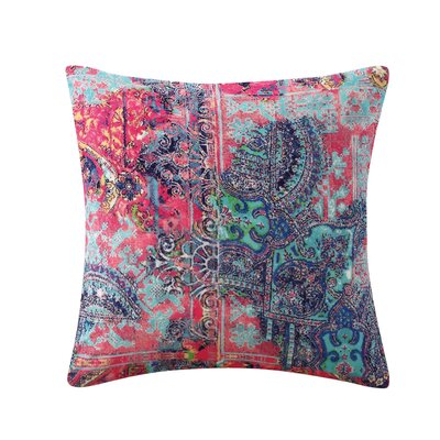 Nell Printed Velvet Throw Pillow