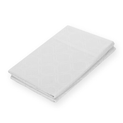 Modern Lattice Jacquard Pillowcase Size: King, Color: White