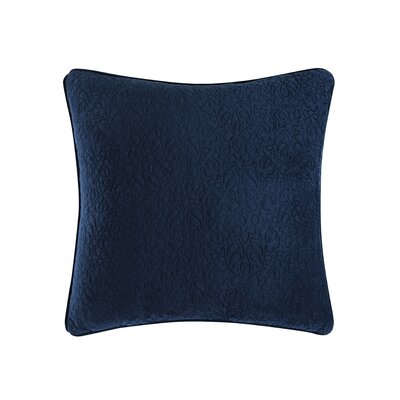 Solid Square Throw Pillow Color: Cobalt Blue/ Aquamarine Blue