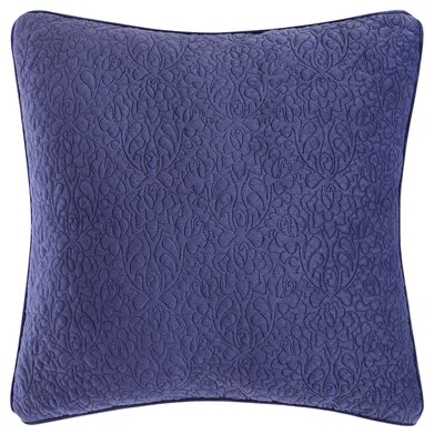 Solid Square Throw Pillow Color: Deep Blue/Sea Mist Green