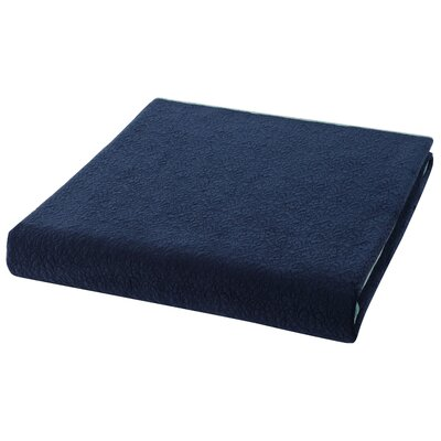 Solid Velvet Coverlet Size: Full/Queen, Color: Cobalt Blue/Aquamarine Blue